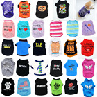 New Pet Summer Cool Clothes Vest Puppy Dog Cat Cute T Shirt Cotton Coat Costumes