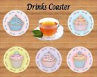 EAT ME CUPCAKE DRINKS COASTER IDEAL GIFT FOR FRIEND SISTER MUM DAUGHTER
