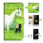 LG G5 Wallet Case Cover AJ20202 White Horse