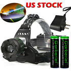 lumen led headlights - 10000LM Tactical T6 LED Headlamp Zoomable Focus HeadLight Lamp + 18650 + Charger
