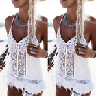 Women summer Fashion Loose Lace Vest tank tops sleeveless blouse casual t shirt