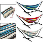 3 Color Double Canvas Garden Hammock Stand Hook Outdoor Camping Beach Swing Bed
