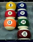 """Regular  2-1/4""""  Pool Cue Billiards Ball , No.9 to No.15  for Option - New"""