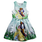 Summer Girls Moana Trolls Cosplay Costume Princess Fancy Skater Dress  3-12Y Lot