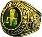 18K GOLD (GP) SHERIFF'S DEPARTMENT SIGNET RING INSIGNIA ETCHED IN 18K GOLD