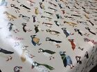 PRESTIGIOUS TEXTILE PUFFINS DRIFTWOOD BIRDS PVC FABRIC WIPE CLEAN TABLECLOTH