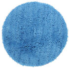 NEW Twilight Shag Blue Round Shag Rug