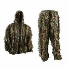 5.9-6.2ft Leaf Ghillie Suit Woodland Camo Camouflage Clothing jungle Hunting 3DJacket & Pant Sets - 177872