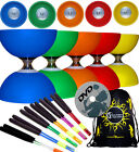 CYCLONE CLASSIC Triple Bearing Diabolo Set + Metal Handsticks +Tricks DVD + Bag