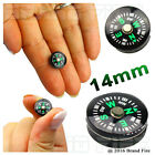 Mini 14mm Oil Filled Button Compass - Military Survival Bushcraft Escape Evasion