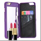 Luxury Design Hard Wallet Cases+Built-in Mirror For iPhone 6/6s Plus+Gift Box