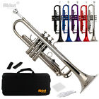 Aklot Bb Beginner Trumpet with Silver Plated Purple Red Blue Black B Flat