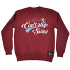 Cant Stop Skiing Powder Monkeez SWEATSHIRT jumper birthday gift ski Clothing