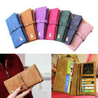 Women Leather Clutch Bag Credit Card Holder Coin Case Purses Wallet With Pendant
