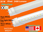 """G13 4FT 20W MILKY/Clear T8 48"""" LED Tube Light Fluorescent Replacement 2400 Lumen"""