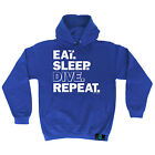 Eat Sleep Dive Repeat Open Water HOODIE hoody birthday gift top funny diving