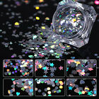 1.5g Born Pretty Holographic Nail Sequins Heart Star Round Holo Glitter Flakes
