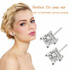 Man Woman Simple Four Claws Design Zircon Beautiful Cool Stud Earrings LO