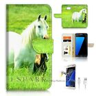 Samsung Galaxy S7 Wallet Case Cover AJ20202 White Horse