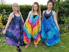 Tie-Dye Butterfly Dungarees Jumpsuit Overalls, Colourful Purple Blue Rainbow