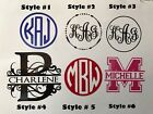 Custom monogram, split letter initial sticker decal.Yeti, tumbler, bulk discount photo