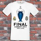 Real Madrid Juventus Final Champions League Shirt Cardiff Wales 2017 T-Shirt