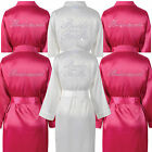Bride Bridesmaid ROBE ROBES DRESSING GOWN DIAMANTE SATIN WEDDING  BRIDAL PARTY