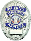 Tactical 365 Security Enforcement Officer Shield Badge | Gold or Nickel