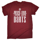 Peace Love Darts MENS T SHIRT birthday funny pub beer booze drinking gift
