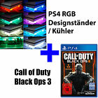 PS4 Playstation 4 Bundle COD Call of Duty Black Ops 3+ RGB Design Cooling Fan