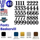 Lot Of 40 White Or Black Vinyl Mailbox, Tool Box,locker Numbers Decal Baskervill