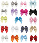 "50pcs 100pcs 26mm 1"" Small Bows 9mm Satin Ribbon Eco Quality Craft Wedding Party"