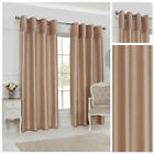 Gold Velvet Faux Silk Curtains Ring Top Lined Pairs Ready Made Modern Stylish