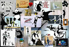 Light Banksy Collage Mix Montage Poster Prints Wall Art Decoration