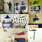 Army Wall Sticker! Boys Home Transfer Graphic  Military Decal Decor Stencil Art