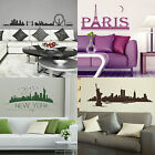 City Skyline Wall Stickers! Cityscape Vinyl Transfers, Giant interior Art Decal