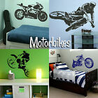 Motorbike Wall Stickers! Transfer Graphic Decal Decor Stencil Boys Racing Bikes