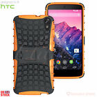 HTC PHONE HEAVY DUTY TOUGH SHOCKPROOF CASE COVER & STAND - EXCELLENT PROTECTION