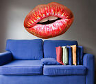 Red Lips Beauty Spa Saloon Full Color Wall Decal Sticker KR 125 FRST