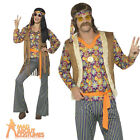 Mens Ladies 1960s Hippie Singer Costume Hippy Fancy Dress Outfit