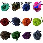 5mm Polyester Cord Braided Rope Soft Colour Color Craft Décor Sewing Trim