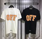 New MENS OFF Graphic Printed Short Sleeve T-Shirts Black White Streetwear