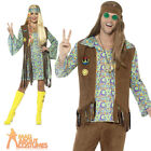 Mens Womens 1960s Hippie Costume Psychedelic 70s Hippy Fancy Dress Outfit