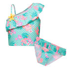 Girls Swimsuit Two Pieces Floral Sleeveless Bikini Suit  Beachwear  For 1-8Y