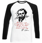 LOUIS FERDINAND CELINE IMAGINATION - NEW BLACK SLEEVED BASEBALL COTTON TSHIRT