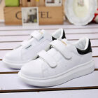 Kids Children Boys Girls White Sports Running Shoes Trainer Casual Wedge Jogger