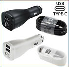 OEM Samsung Galaxy S8 + Note 8 & LG G5 G6 Fast Car Charger Dual USB Type-C Cable
