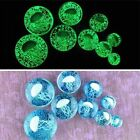 1 Pair Glow In The Dark Jellyfish Luminous Glass Ear Plugs Ring Gauges Earring