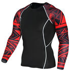 Men Compression T-shirt Base Layer Tights Tops Sports Shirt Gym Fitness Workout