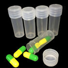 5ml Plastic Sample Bottle Test Tube Mini Small Bottles Vials Storage Containers